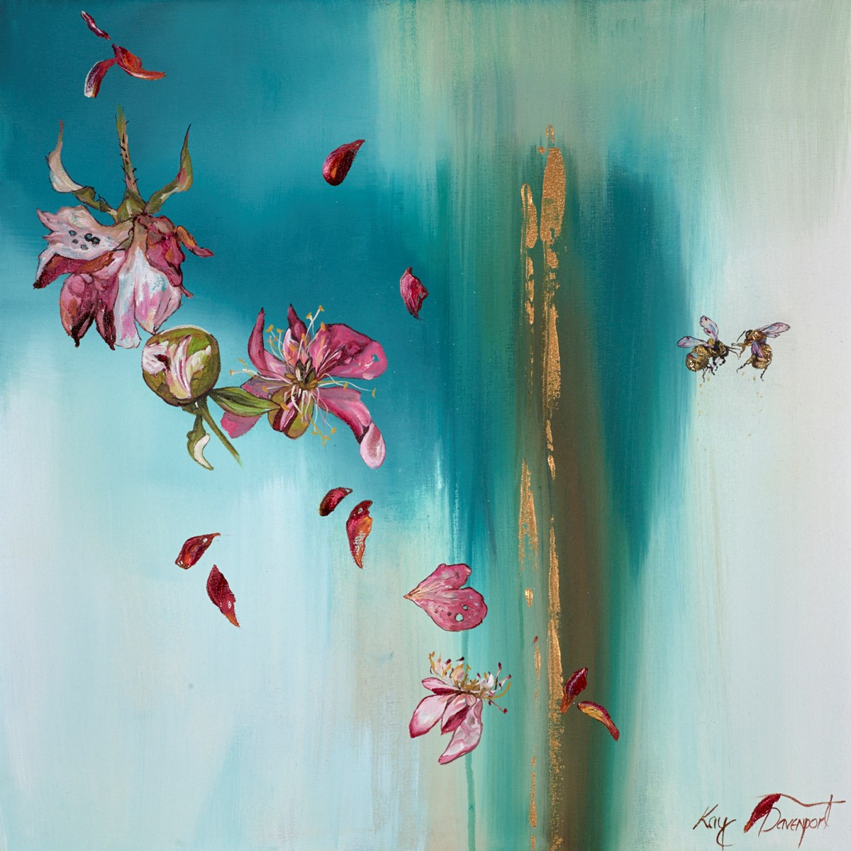 Forever Flowers by kay davenport -  sized 24x24 inches. Available from Whitewall Galleries